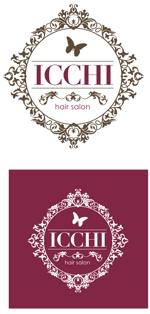 kuma-booさんの「hair salon ICCHI」のロゴ作成への提案