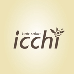 topon55さんの「hair salon ICCHI」のロゴ作成への提案