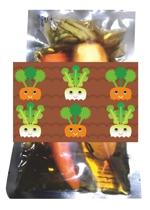ama_designさんの漬物を包む包装紙デザイン(大根&人参)への提案