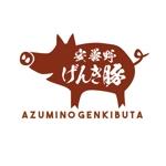 24taraさんの高級豚肉「安曇野げんき豚」の商品ロゴへの提案
