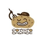 kawasaki0227さんのジャガイモ料理専門キッチンカー「POTATO GARAGE」のロゴへの提案