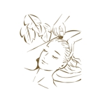 髪を流している女性のイラストへの提案