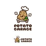 mu_chaさんのジャガイモ料理専門キッチンカー「POTATO GARAGE」のロゴへの提案