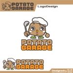 kiirosinさんのジャガイモ料理専門キッチンカー「POTATO GARAGE」のロゴへの提案