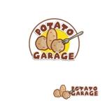 yoshiereyさんのジャガイモ料理専門キッチンカー「POTATO GARAGE」のロゴへの提案