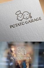 ns_worksさんのジャガイモ料理専門キッチンカー「POTATO GARAGE」のロゴへの提案