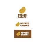 K-digitalsさんのジャガイモ料理専門キッチンカー「POTATO GARAGE」のロゴへの提案
