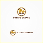 VainStainさんのジャガイモ料理専門キッチンカー「POTATO GARAGE」のロゴへの提案