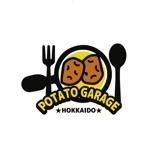 saki8さんのジャガイモ料理専門キッチンカー「POTATO GARAGE」のロゴへの提案