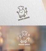 coque0033さんのジャガイモ料理専門キッチンカー「POTATO GARAGE」のロゴへの提案