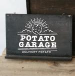 D0917さんのジャガイモ料理専門キッチンカー「POTATO GARAGE」のロゴへの提案