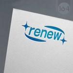 u164さんの新会社「renew」のロゴ ~磨き・再生の内装業~への提案