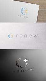 zeross_designさんの新会社「renew」のロゴ ~磨き・再生の内装業~への提案