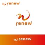 glpgs-lanceさんの新会社「renew」のロゴ ~磨き・再生の内装業~への提案