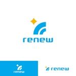 Mr-Pさんの新会社「renew」のロゴ ~磨き・再生の内装業~への提案