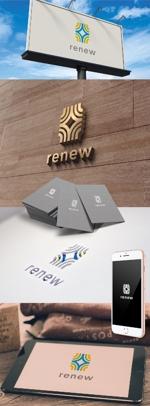 katsu31さんの新会社「renew」のロゴ ~磨き・再生の内装業~への提案