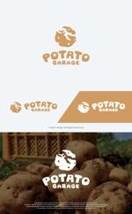 take5-designさんのジャガイモ料理専門キッチンカー「POTATO GARAGE」のロゴへの提案