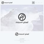 onesizefitsallさんの「mount pixel」のロゴ への提案