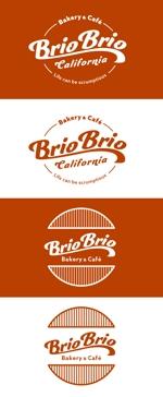 wawamaeさんのカリフォルニアにオープン予定のカフェ「Brio Brio」のロゴへの提案