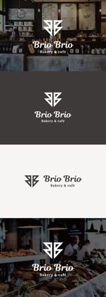 tanaka10さんのカリフォルニアにオープン予定のカフェ「Brio Brio」のロゴへの提案