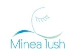 tukasagumiさんのマツエクサロン『Minea lush』のロゴへの提案