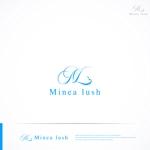 RIKU5555さんのマツエクサロン『Minea lush』のロゴへの提案