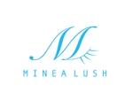 kuri_pulsarさんのマツエクサロン『Minea lush』のロゴへの提案