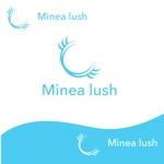 glpgs-lanceさんのマツエクサロン『Minea lush』のロゴへの提案