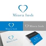 minervaabbeさんのマツエクサロン『Minea lush』のロゴへの提案