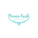 nakayama0001さんのマツエクサロン『Minea lush』のロゴへの提案