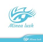 hiko-kzさんのマツエクサロン『Minea lush』のロゴへの提案