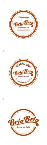 カリフォルニアにオープン予定のカフェ「Brio Brio」のロゴへの提案