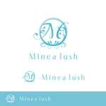 neopandafulさんのマツエクサロン『Minea lush』のロゴへの提案