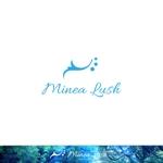 red3841さんのマツエクサロン『Minea lush』のロゴへの提案