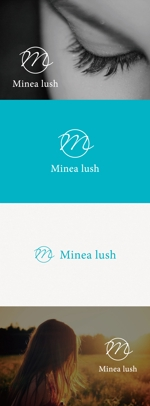 tanaka10さんのマツエクサロン『Minea lush』のロゴへの提案