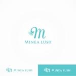 yamana_designさんのマツエクサロン『Minea lush』のロゴへの提案
