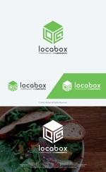 take5-designさんの低糖質専門の飲食店「locabox」のロゴへの提案