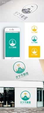 smoke-smokeさんの不動産会社「タマ不動産」のロゴへの提案