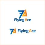 queuecatさんの財務・金融コンサルティング、FP事務所「株式会社FLYING ACE」のロゴへの提案