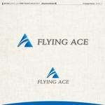kzdesignさんの財務・金融コンサルティング、FP事務所「株式会社FLYING ACE」のロゴへの提案