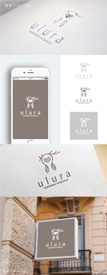 smoke-smokeさんのまつ毛エクステサロン【ulura(ウルラ)】のロゴ制作への提案