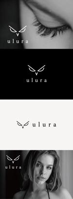 tanaka10さんのまつ毛エクステサロン【ulura(ウルラ)】のロゴ制作への提案