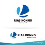 nekosuさんの会社の看板、名刺『株式会社リアス今野』のロゴへの提案