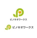saki8さんのブライダルコンサルタント&飲食「株式会社ピノキオワークス」社名ロゴデザインへの提案