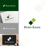 charisabseさんの新規飲食店(ビストロ)「BistroKaoru」のロゴへの提案