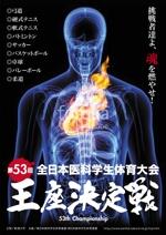 jidaiokureさんの医科学生の総合体育大会のポスター作成への提案