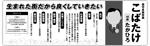 yubidesignさんの県議会議員選挙広報への提案