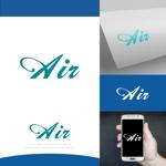 fortunaaberさんの空調業(エアコン業)です。「AIR」を使ったロゴ作成依頼への提案