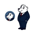 pepper13さんのスーツを着た白クマのキャラクターデザインへの提案