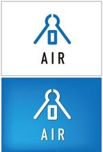 taki-5000さんの空調業(エアコン業)です。「AIR」を使ったロゴ作成依頼への提案